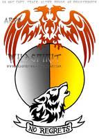 No Regrets Phoenix Wolf Tattoo by WildSpiritWolf