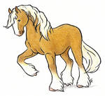 Caramel Draft Horse