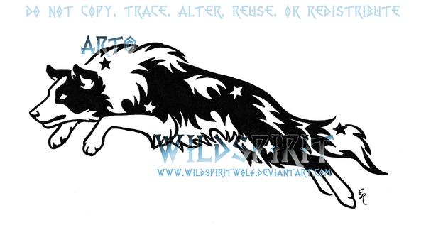 starry leaping border collie by wildspiritwolf on deviantart. Black Bedroom Furniture Sets. Home Design Ideas