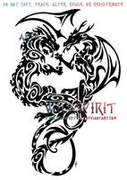Air And Fire Dragon Tattoo by WildSpiritWolf
