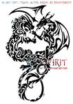Air And Fire Dragon Tattoo