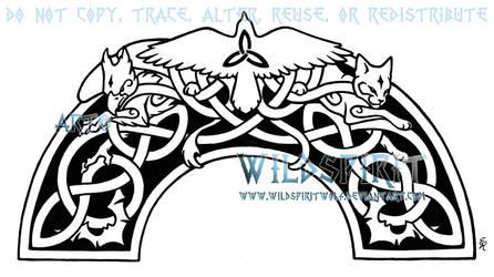 Knotwork Animal Panel Tattoo by WildSpiritWolf