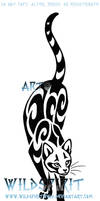 Prowling Cat Tattoo