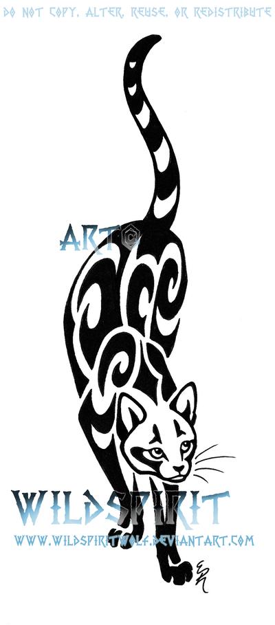 Prowling Cat Tattoo - dragonfly tattoo
