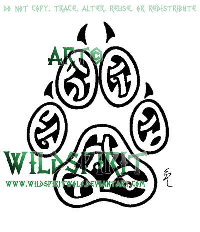 Knotwork Paw Print Tattoo by WildSpiritWolf on DeviantArt