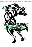 Alert Tribal Wolf Tattoo by WildSpiritWolf