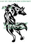 Alert Tribal Wolf Tattoo