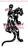 Climbing Tribal Panther Logo