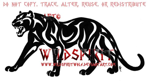 Roaring Tribal Panther Logo by WildSpiritWolf