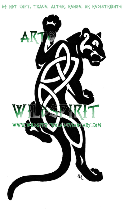 Climbing Celtic Panther Logo by WildSpiritWolf