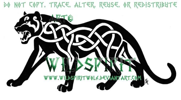 Roaring Celtic Panther Logo by WildSpiritWolf