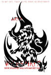 Rampant Flame Lion Tattoo