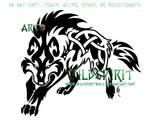 Fenrir Knotwork Wolf Tattoo