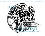 Knotwork Raven And Quill
