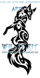 Leaping Starry Fox Tattoo by WildSpiritWolf