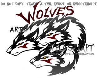 Three Wolf Logo Design by WildSpiritWolf