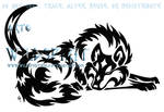 Tribal Sleeping Wolf And Moon