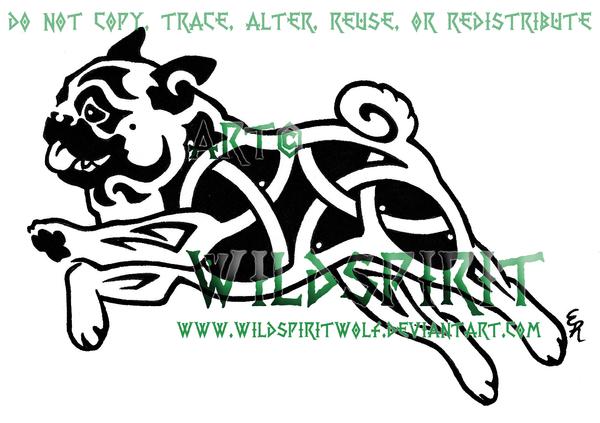 Knotwork Pug Dog Tattoo by *WildSpiritWolf on deviantART