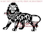 Auron Tribal Lion Tattoo