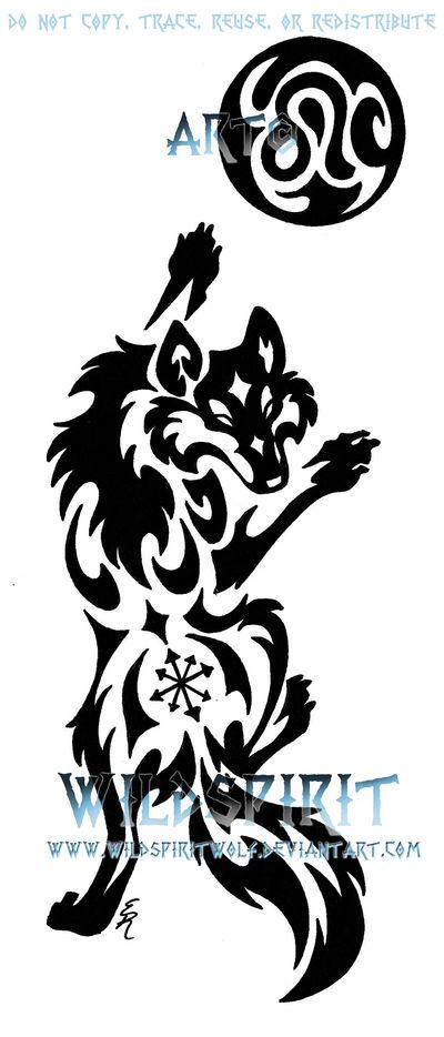 1841e8186 Climbing Wolf And Moon Tattoo by WildSpiritWolf on DeviantArt