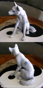 Wedding Topper White Wolf
