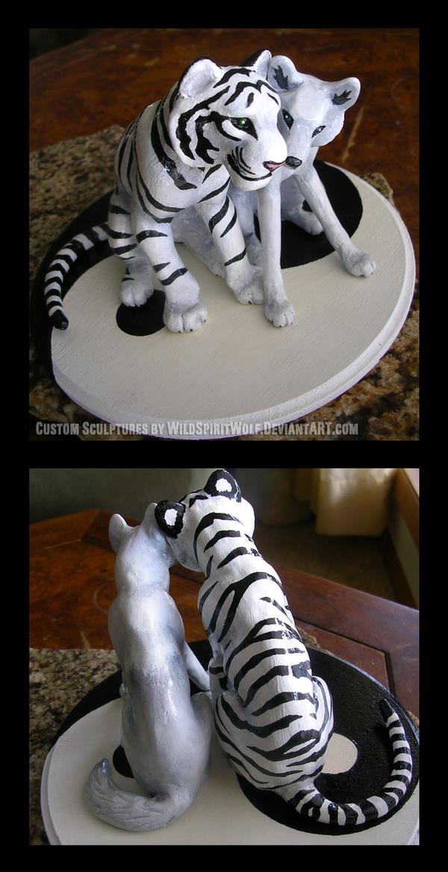 Tiger Wedding Cake Topper