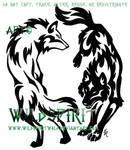 Yin Yang Tribal Wolf Set