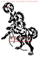 Fenrir Breaking Free Tattoo by WildSpiritWolf
