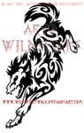 Teki Tribal Wolf Tattoo