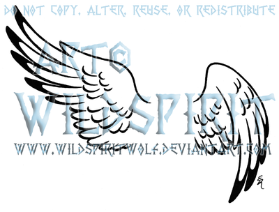 Hermes Wing Set Tattoo by WildSpiritWolf
