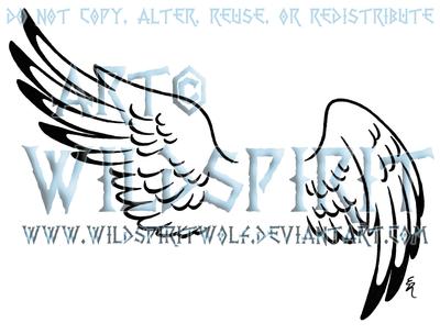 Hermes Wing Set Tattoo by WildSpiritWolf