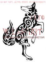 Dancing Coyote Tattoo by WildSpiritWolf