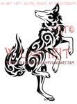 Dancing Coyote Tattoo