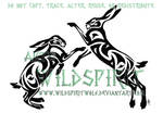 Boxing Hares Tribal Tattoo