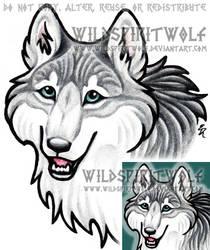 LabradoriteWolf Icon Commish by WildSpiritWolf