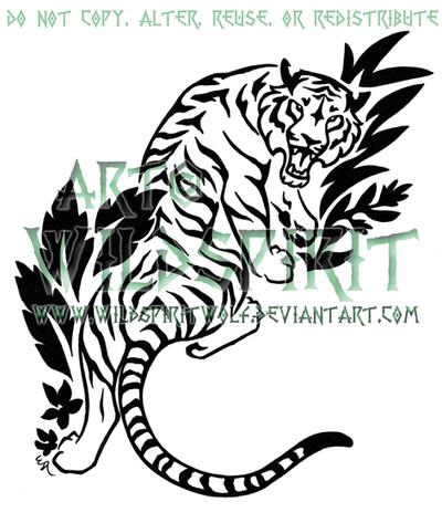 Jungle Tiger Tattoo by WildSpiritWolf