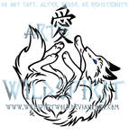 Wolf And Love Kanji Tattoo