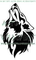Countries Howling Wolf Design by WildSpiritWolf