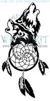Wolven Dreamcatcher - Tribal Design