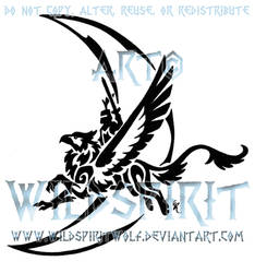 Gryphon Logo Commission by WildSpiritWolf
