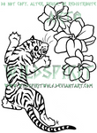 Tiger And Flowers Tattoo