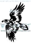 Starry Tribal Raven Tattoo