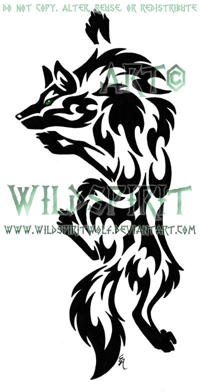 eac6653d7 Green-Eye Climbing Wolf Tattoo by WildSpiritWolf on DeviantArt