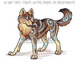 Tribal Mystic - Wolf Commish by WildSpiritWolf