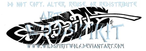 'Robin' Knotwork Quill Tattoo by WildSpiritWolf