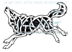 Running Knotwork Wolf by WildSpiritWolf
