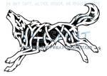 Running Knotwork Wolf