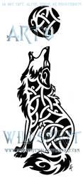 Knotwork Howling Coyote Tattoo by WildSpiritWolf
