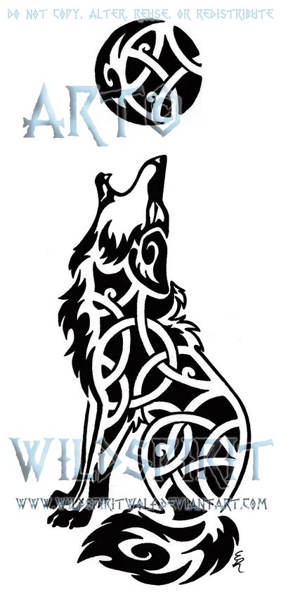 Knotwork Howling Coyote Tattoo by WildSpiritWolf on DeviantArt
