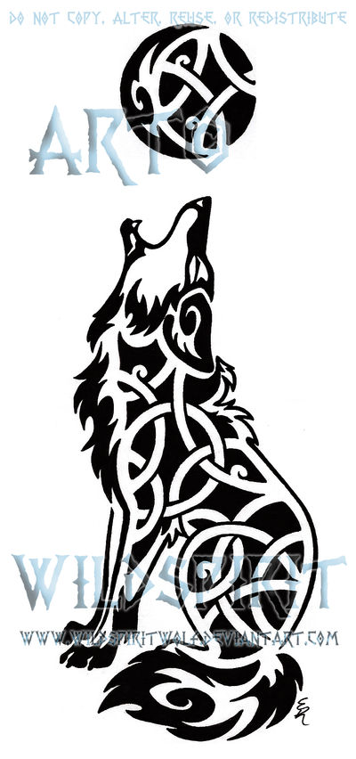 2e6e277d9 Knotwork Howling Coyote Tattoo by WildSpiritWolf on DeviantArt